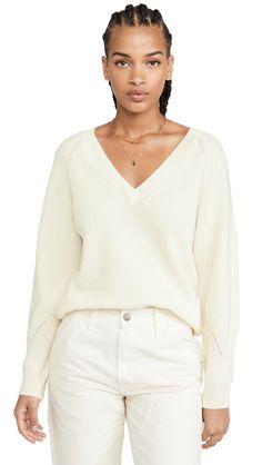 Velvet Tonya Sweater In Milk Cashmere Fabric, Velvet Fashion, China Fashion, Street Style Looks, World Of Fashion, Casual Dresses, Vintage Fashion, Sweaters, Pullover
