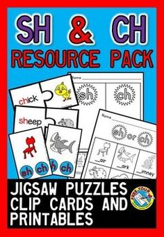#SALE ON THIS NEWLY LISTED #PHONICS #RESOURCE #PACK! #SH AND #CH #DIGRAPH RESOURCE PACK: #PUZZLES, #PRINTABLES & #CLIP #CARDS  ONLY $3 FOR A LIMITED TIME! :)