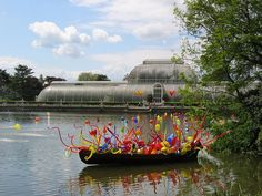 chihuly art exhibit in Israel | Dale Chihuly glass art at the exhibition of his work in Royal Botanic ...
