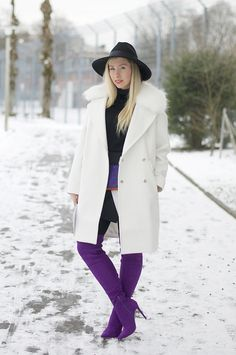 colorful over the knee boots belt bag outfit 5