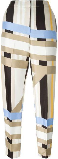 MSGM geometric print tapered trousers