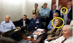 This is the original picture of the room where the President and some other top officials found out that Osama Bin Laden had been killed. In the original picture Hillary Clinton and another female official were in the room but in some newspapers around the country those two were cropped out. This is because many countries don't respect or value the role of women in politics. It does not diminish the fact that this is a direct and disrespectful breach of photojournalism