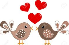 12208930-two-cute-birds-in-love-Stock-Vector-cartoon.jpg (1300×856)
