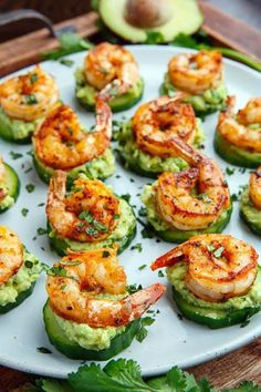 Blackened Shrimp Avocado Cucumber Bites - 42 pieces per tray - Shrimp Sweetly O. Blackened Shrimp Avocado Cucumber Bites - 42 pieces per tray - Shrimp Sweetly Only. Clean Eating Snacks, Healthy Snacks, Healthy Eating, Healthy Recipes, Cucumber Bites, Cucumber Recipes, Cucumber Salad, Cucumber Yogurt, Cucumber Seeds