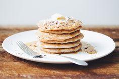 #glutenfree #vegan coconut pancakes   RECIPE on hotforfoodblog.com
