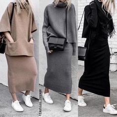 Delicate winter outfits to try - Fashion Trends Komplette Outfits, Winter Outfits, Casual Outfits, Fashion Outfits, Womens Fashion, Fashion Trends, Fashion Clothes, Fashion 2020, Muslim Fashion