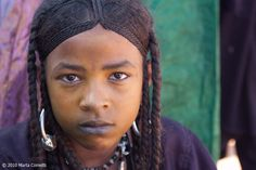 Africa | Portrait of a Tuareg girl.  Agharous, Niger | © Marta Cometti