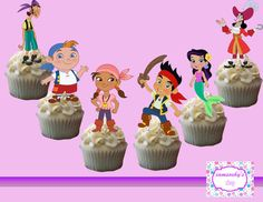 Jake and the Pirates Cupcake topperscakepop by iamsoxhy on Etsy