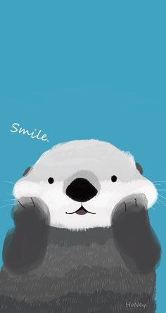 Your new significant otter: | 28 Delightful Free Phone Wallpapers That'll Make You Smile