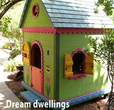 Barbara Butler-Play Houses-Extraordinary Play Structures for Kids (backyard play spaces products) Playhouse Kits, Build A Playhouse, Playhouse Outdoor, Wooden Playhouse, Girls Playhouse, Play Structures For Kids, Outdoor Play Structures, Cubby Houses, Play Houses