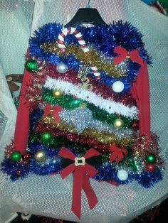 """UGLY CHRISTMAS SWEATER """"STUDIO 54 AT THE NORTH POLE""""! LIGHT UP"""
