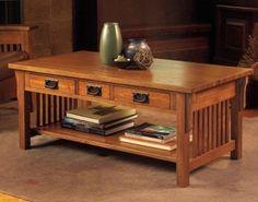 Craftsman coffee table