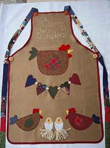 Todo para Crear ... : varios costura Fabric Crafts, Sewing Crafts, Sewing Projects, Chicken Quilt, Image Deco, Cute Aprons, Applique Templates, Sewing Aprons, Apron Designs