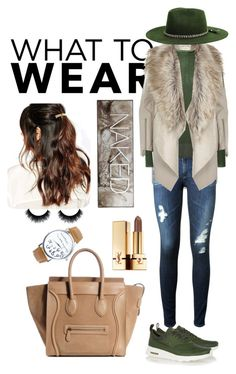 """Go shop on Friday !"" by sanglierspore on Polyvore featuring mode, River Island, AG Adriano Goldschmied, Suzywan DELUXE, Gucci, NIKE, Brixton, Urban Decay et Yves Saint Laurent"
