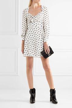 MIU MIU Printed silk-crepe mini dress  $2,420.00 https://www.net-a-porter.com/product/811273