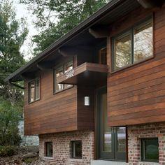 Mettre du bois sur la façade:  Entry - contemporary - exterior - dc metro - Bennett Frank McCarthy Architects, Inc.