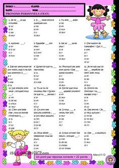 Pronoms Personnels (TEST)