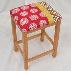 Contemporary Patchwork Utility Stool
