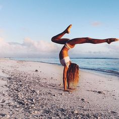 Yoga + the beach is what we love most