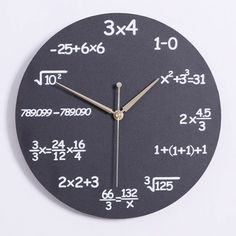 Formula Decorative Wall Clock Modern Wall Clock Pop Quiz Clock for Classroom Wall Clock Kits, Led Wall Clock, Wall Clock Design, Diy Clock, Diy Wall Clocks, Clock Ideas, Clock Decor, Wall Decor, Childrens Wall Art