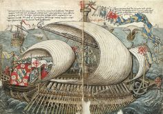 Galère. La description d'un voyage de Constance à Jérusalem par Konrad von Grünenberg. c.a. XV.