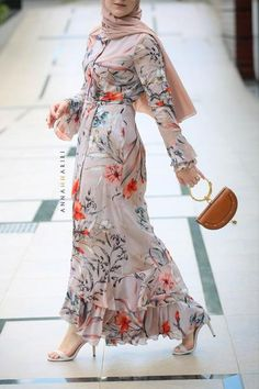meghan Modest dress thawb for sale islamic prayer clothes hijab online usa islamic apparel buy hijabs Autumn Cherry skirt Abaya Fashion, Muslim Fashion, Modest Fashion, Women's Fashion Dresses, Casual Dresses, Dresses Dresses, Modest Clothing, Floral Dresses, Modest Maxi Dress
