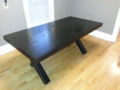 Handmade Farmhouse contempory Vintage Dining Table!  Would look perfect with white accents!