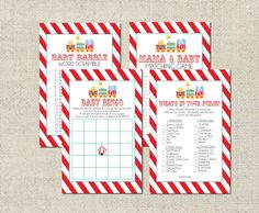 Circus+Baby+Shower+GAME+PACKAGE+Printable+by+GeminiCelebrations,+$8.00