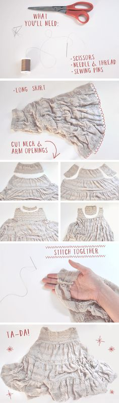 DIY-Skirt-to-Slip-Dress by One of Each Blog