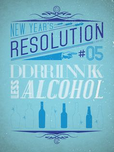 less alcohol, more water!