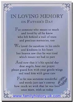 In loving Memory...on Fathers Day. We still remember and miss you!