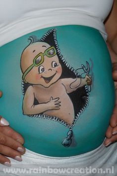 bellypaint baby met katapult uit rits bellypaint baby with slingshot catapult Maternity Pictures, Pregnancy Photos, Baby Belly Pictures, Baby Surprise Announcement, Bump Painting, Pregnant Belly Painting, Free Baby Shower Printables, Pregnant Halloween Costumes, Belly Art
