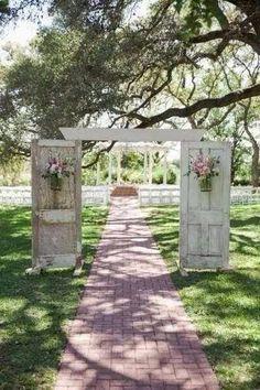 Country doors walk way