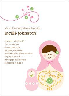 Babushka Nesting Dolls Shower Invitations by Paper Culture -  LOVE IT!