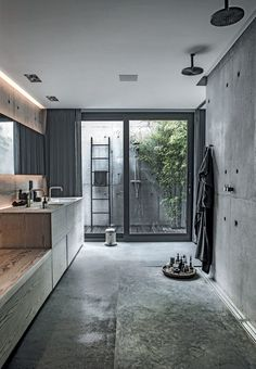 Check Out 41 Concrete Bathroom Design Ideas To Inspire You. Concrete is a super popular material due to its durability, modern look and budget-friendliness. Interior Design Minimalist, Modern House Design, Home Interior Design, Interior Architecture, Interior Decorating, Design Interiors, Decorating Ideas, Villa Design, Design Hotel