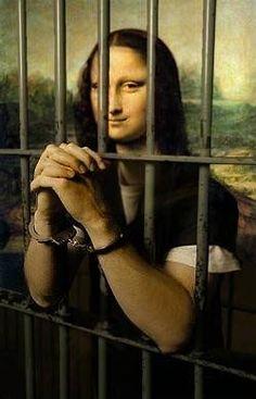 Mona in jail by Teddy Royannez