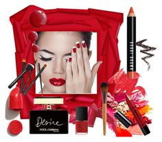 """""""Reflections of Red"""" by bonnieemme ❤ liked on Polyvore featuring beauty, NARS Cosmetics, Bobbi Brown Cosmetics, Elizabeth Arden, Dolce&Gabbana, NYX, Barry M and Topshop"""
