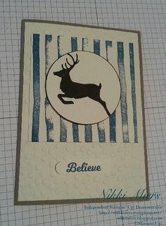 Stampin' Up!....Jolly Christmas....Brushstrokes....Decorative Dots