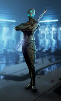 Raw Data Hero Spotlight: Saija, the Cyber Ninja - Survios Character Concept, Character Art, Concept Art, Character Design, Cyberpunk 2077, Ninja Kunst, Science Fiction, Cyber Ninja, Ninja Art