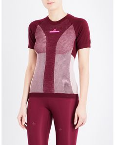 ADIDAS BY STELLA MCCARTNEY - Run Ultra knitted T-shirt   Selfridges.com Colour Block, Color Blocking, Body Mapping, Workout Outfits, Stella Mccartney Adidas, Sport Fashion, Knits, Activewear, Cloths
