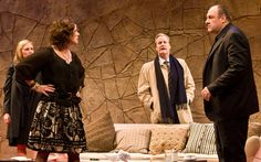 Hope Davis, Marcia Gay Harden, Jeff Daniels, and James Gandolfini - Broadway Production.