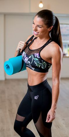 The new bali bloom glow mesh sports bra! We are in LOVE with this one! #JedNorth #Fashion #Fitness