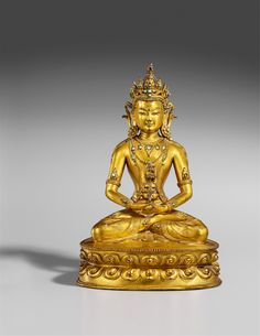 Buy online, view images and see past prices for A Tibetan gilt bronze figure of Buddha Amitayus. Invaluable is the world's largest marketplace for art, antiques, and collectibles. Buddha Thoughts, Buddha Life, Tibet, Oriental, Divine Mother, Bronze, Religious Icons, Buddhist Art, Chinese Antiques