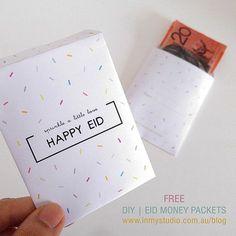 in my studio    DIY Printable Eid Money Packets. SAmpul duit raya. Eid Mubarak Free printables