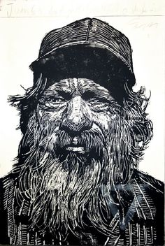 woodcut printmaking faces - Google Search
