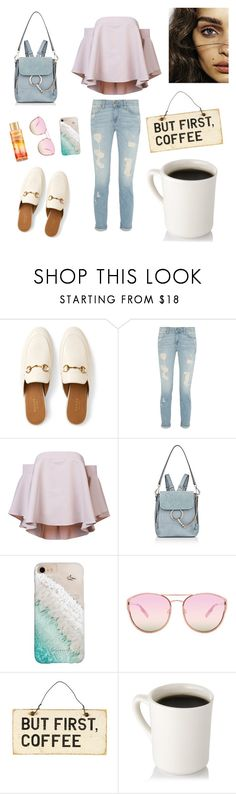 """Coffee break soon..."" by evelinqa on Polyvore featuring Gucci, Milly, Chloé, Gray Malin, Quay and Victoria's Secret"
