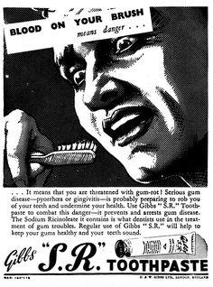 Classic Vintage Retro Poster Toothpaste Old Advert Brushing Teeth Gibbs Sr