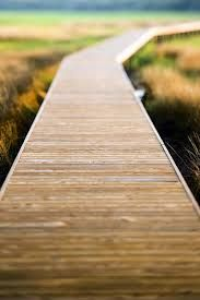 Redwood deck boards can make an attractive walkway that complements landscaping or serves as a path on the property. Typically, walkways are 36 inches wide and may extend from a porch to the sidewalk, Wood Pathway, Wooden Walkways, Wooden Path, Gravel Path, Outdoor Walkway, Front Walkway, Glass Walkway, Front Porch, Landscape Arquitecture