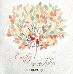 Custom Alternative wedding Guestbook  tree on by LovaluDesign, €85.00