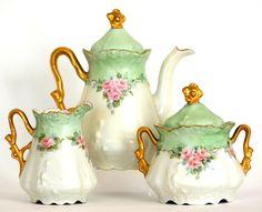 BAVARIA HAND PAINTED ROSES TEA SET